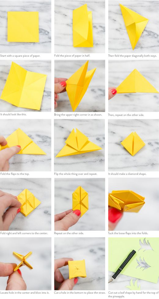 Summer Trend Pineapple Print Good Vibes Pinterest Diy Origami