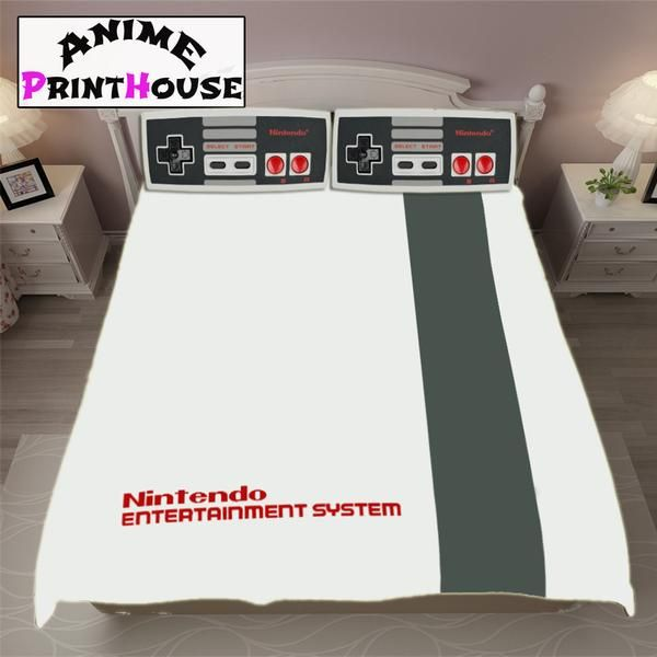 Nintendo Bedding Set Blanket Covers Classic Console Classic