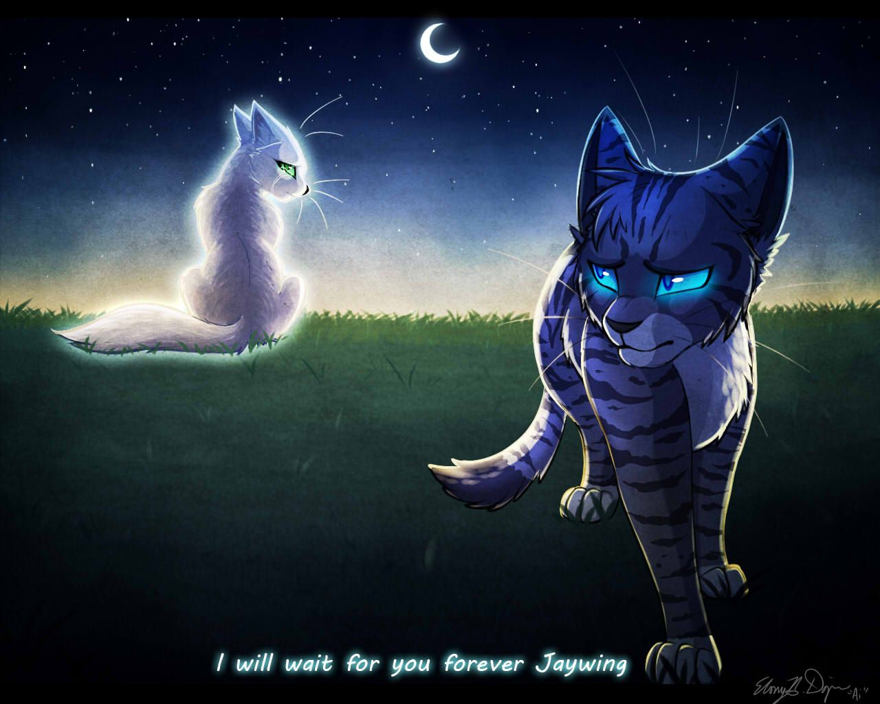 Jayfeather And Half Moon With Images Warrior Cats Fan Art