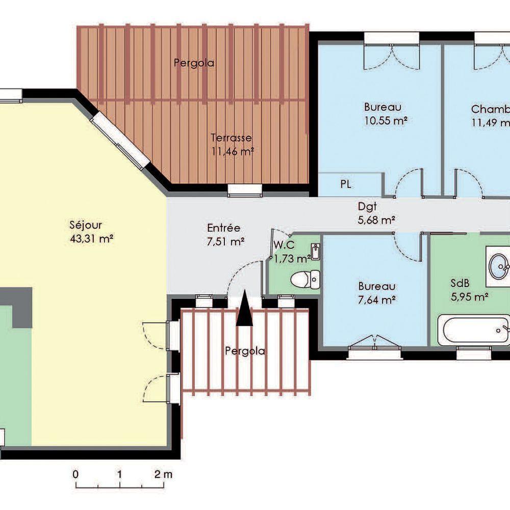 Construire Sa Maison Plan Tilla Bati Sud 179990 Euros 130 M2 Faire