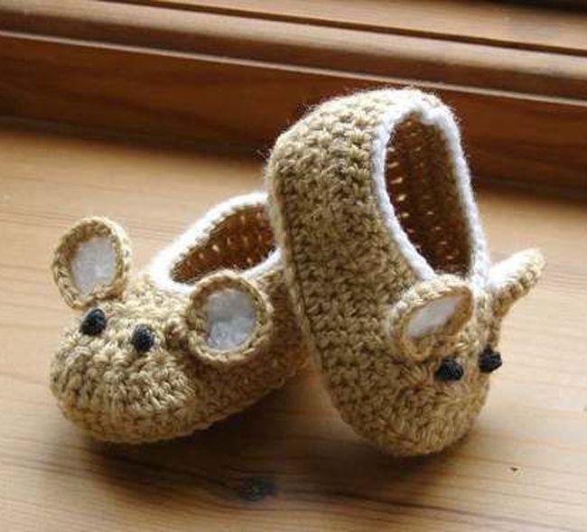 15 zapatitos tejidos para tu bebé #tejidos
