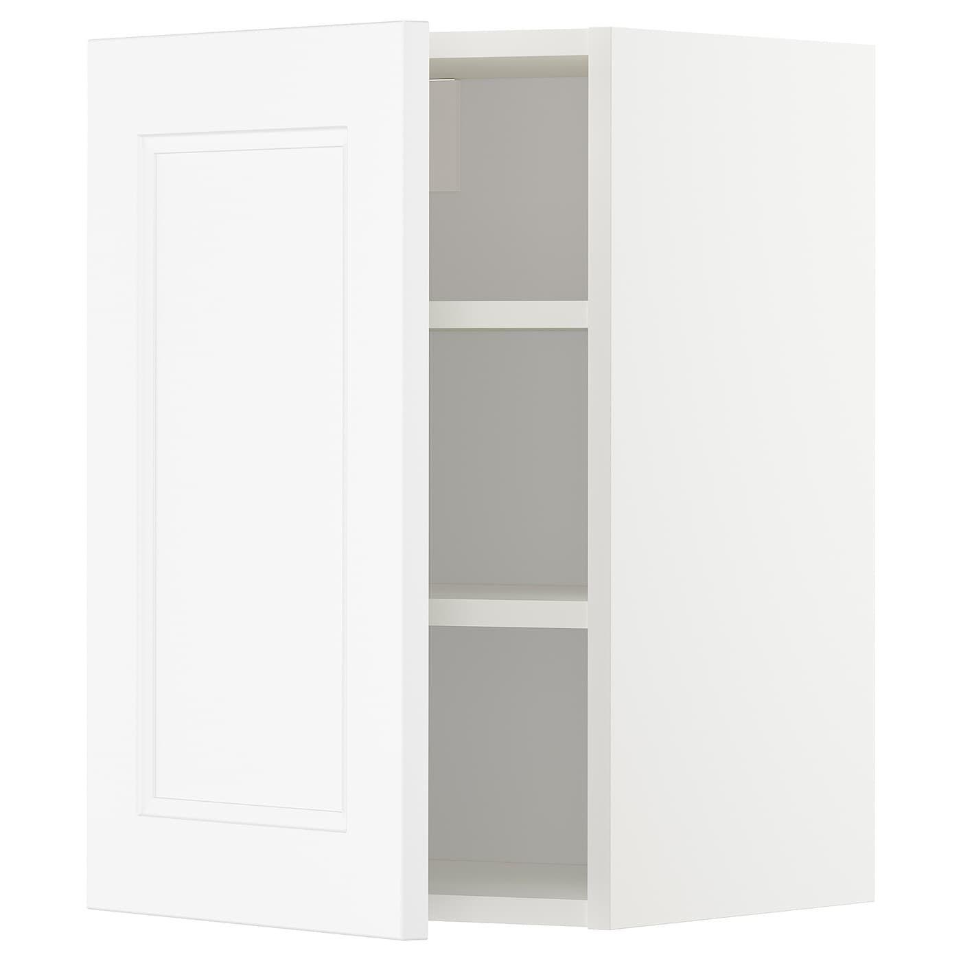 Metod Wall Cabinet With Shelves White Axstad Matt White 40x60