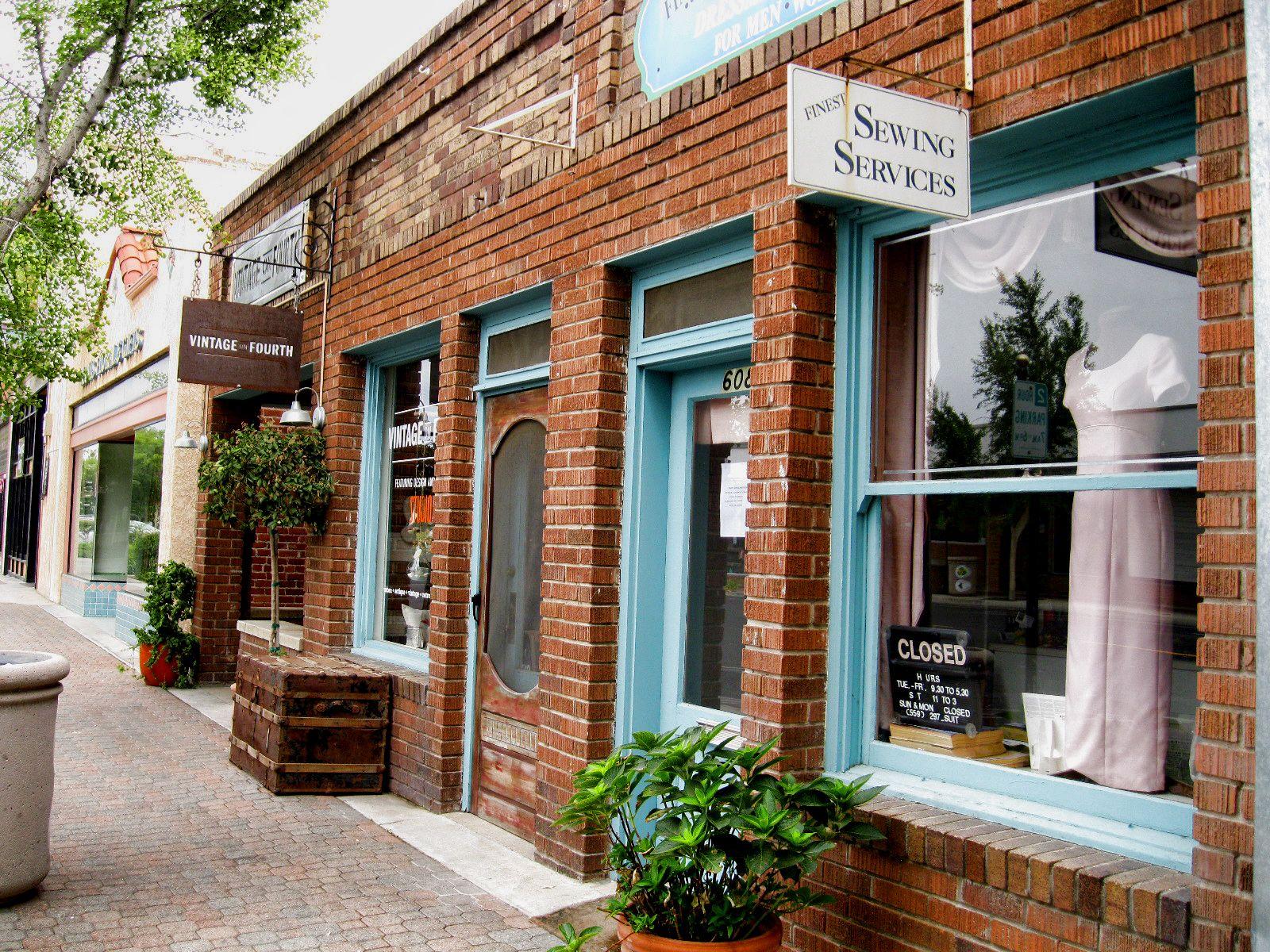 Clovis.CA-- Old Town. Little shops. Photo by Karen McClintock.