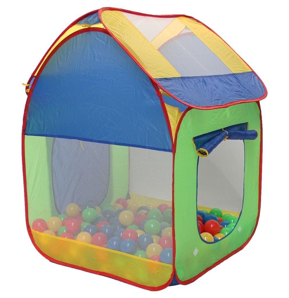 Clamaro Spielzelt, Pop-up, Bällebad, Zimmerzelt mit 300 Bälle (55mm Durchmesser), Indoor, Outdoor, drinnen, draußen, Garten, Spielzimmer