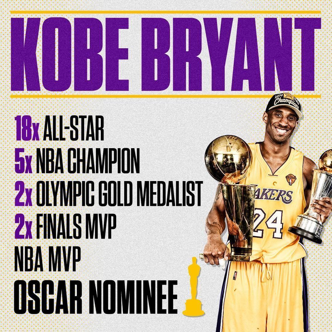 "Add it to the resume. Kobe's ""Dear Basketball"" is Oscar"