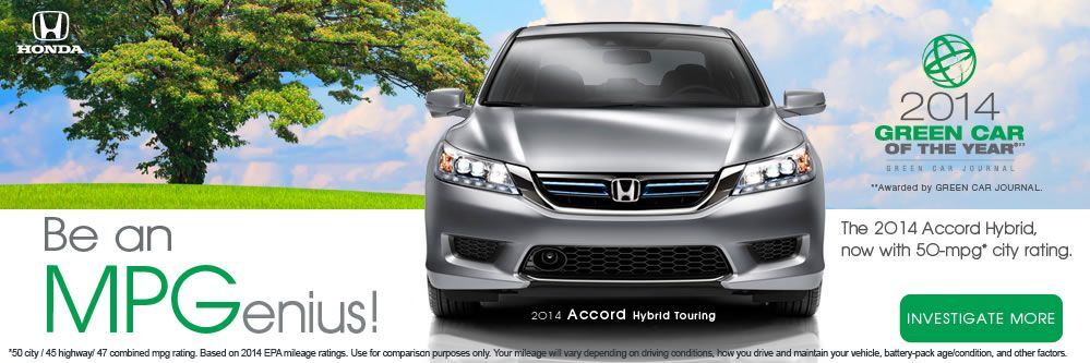 Awesome Miles Per Gallon on the Honda Accord Hybrid