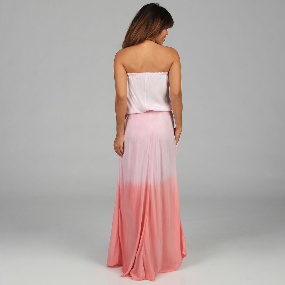 16dedcd166101 Elan Women's Ombre Dyed Strapless Maxi Dress - Overstock™ Shopping - Top  Rated Elan Casual Dresses