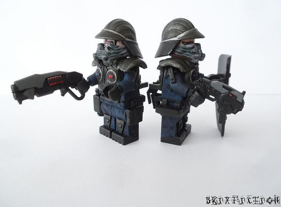 Lego 2 Custom Minifig CITY POLICE OFFICERS
