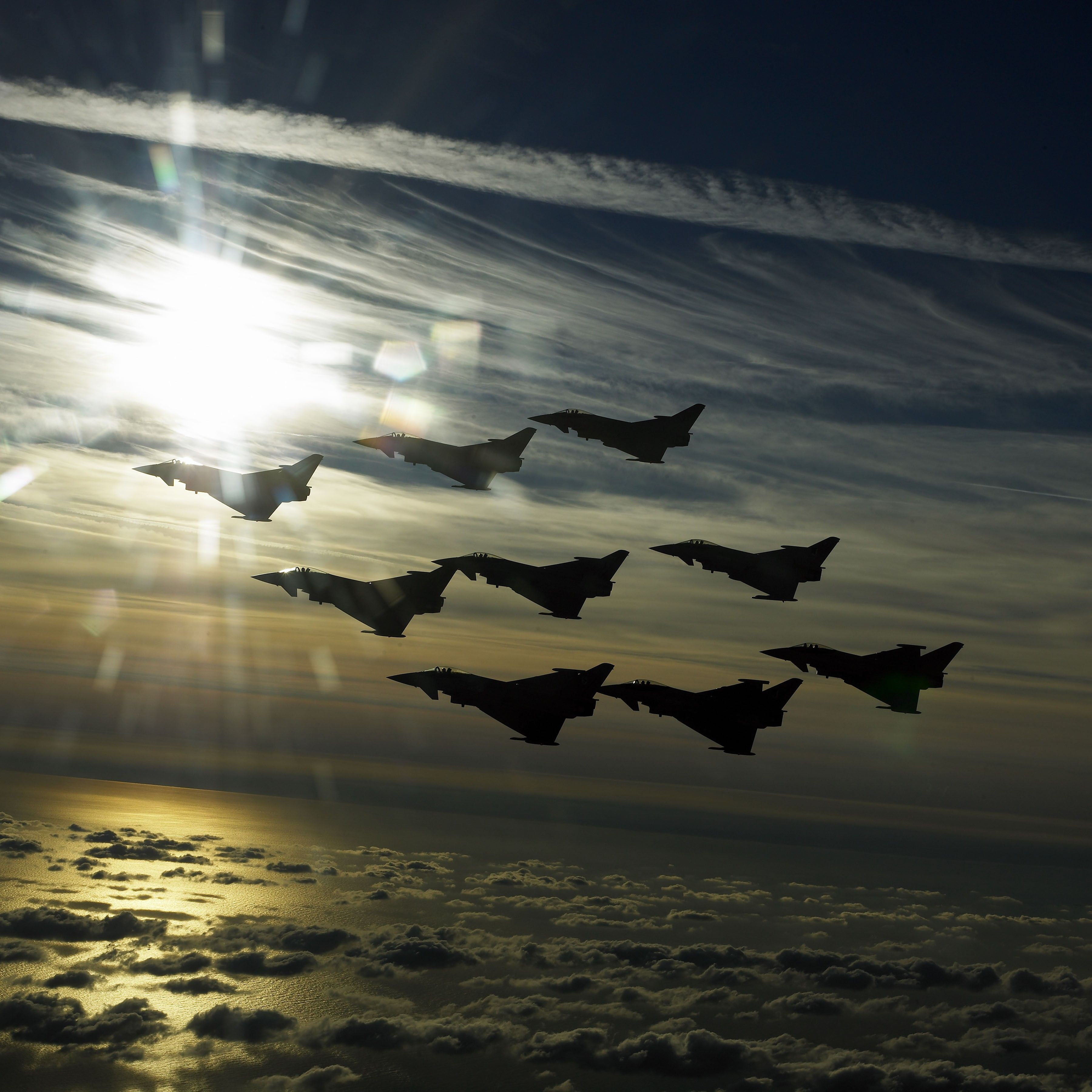 General 3600x3600 Eurofighter Typhoon jet fighter airplane aircraft sky military aircraft vehicle military