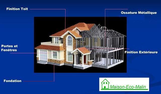 descriptif dune maison en ossature mtallique - Plan Maison Structure Metallique