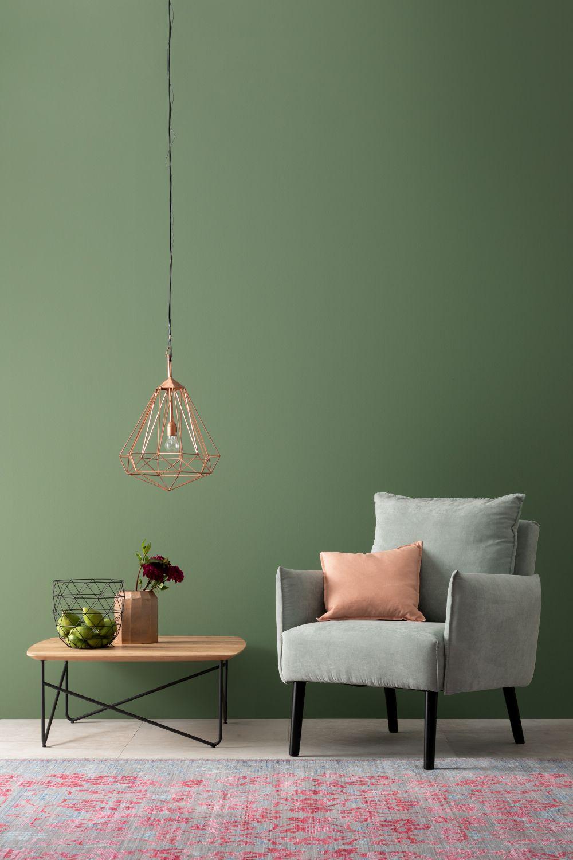 Designfarbe Ausgeglichenes Piniengrun Nr 28 Schoner Wohnen Wandfarbe Schoner Wohnen Farbe Wohnzimmerfarbe
