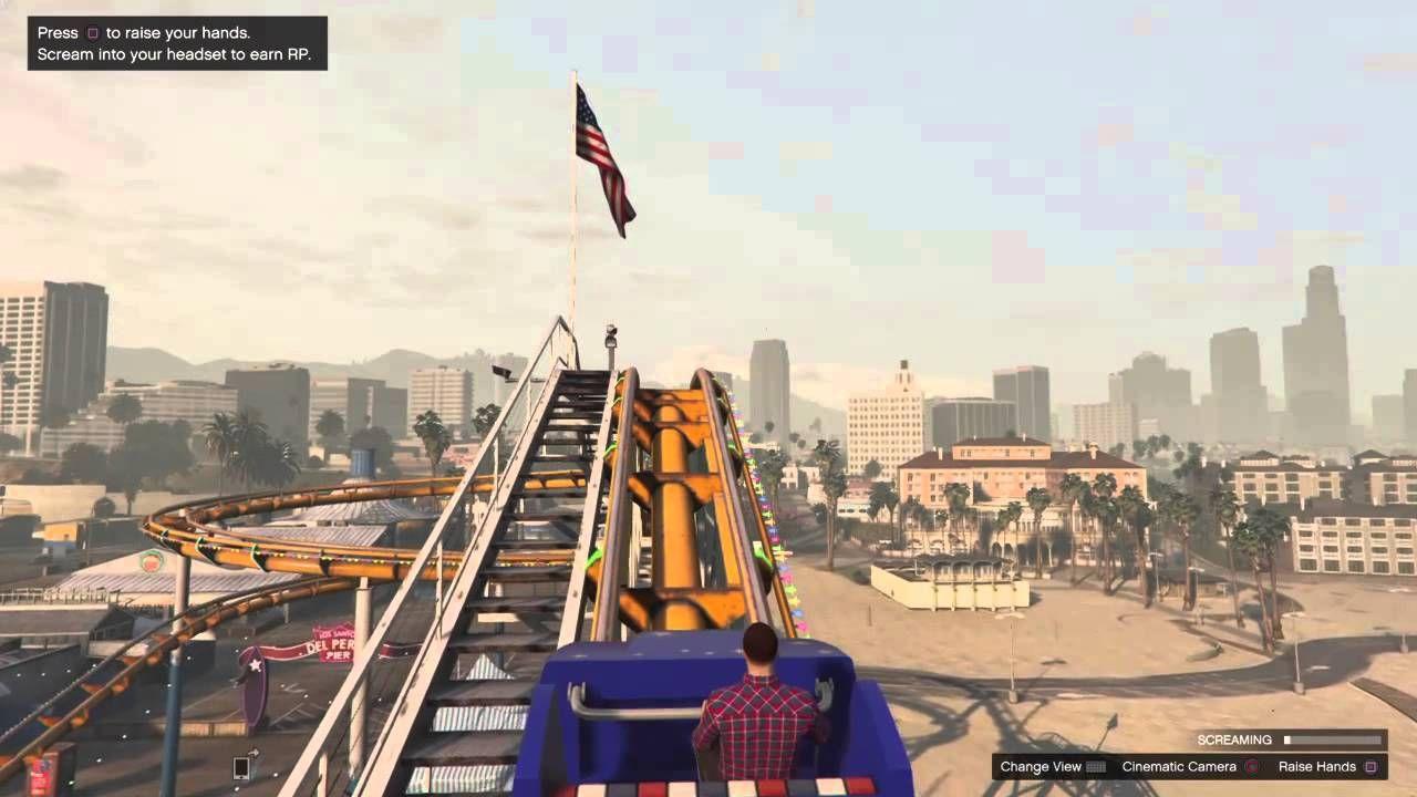 Rollercoaster Fun Gta 5 Ps4 Hd Gameplay Roller Coaster Gta 5 Gameplay