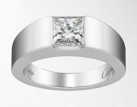 The Tank Ring Square Diamond Rings Cartier Jewelry Rings