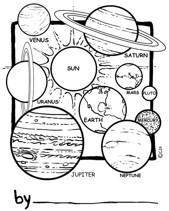 Printable Solar System Coloring Sheets For Kids