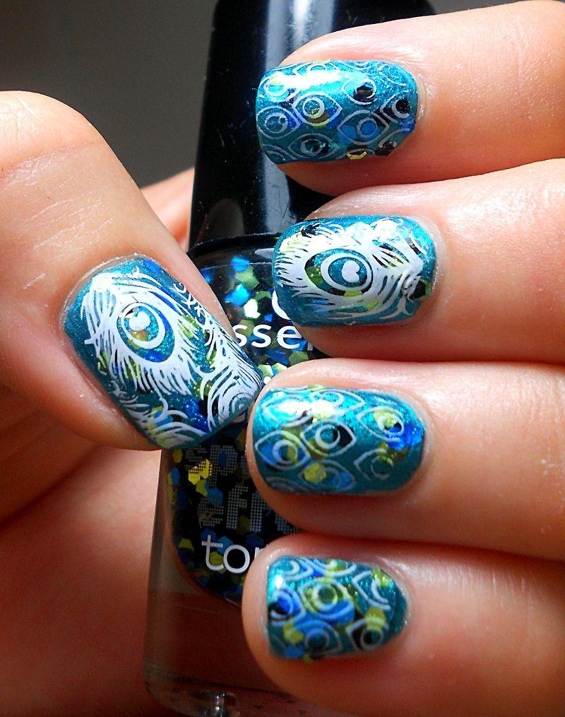 Peacock nails | Peacock nails, Peacock nail designs and Nail design 2015
