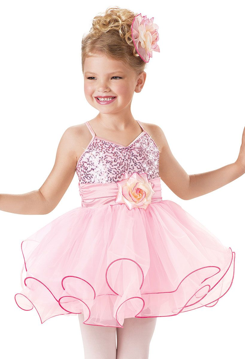 Weissman™ | Sequin Curly Hem Ballet Dress | Little girls | Pinterest ...