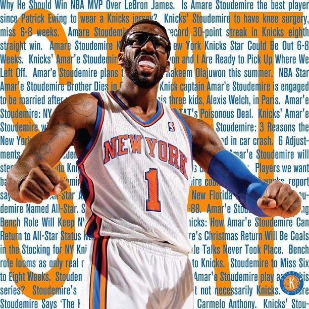 He will be back soon #nyknicks #nyk #knicks #knickstape #stat #s.t.a.t. #amarestoudemire - @cordeliakbanks- #webstagram