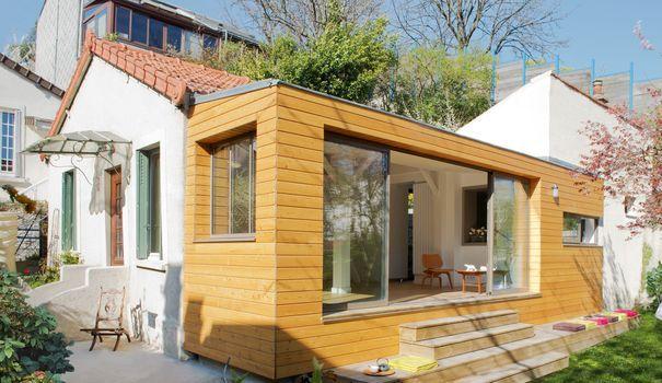Extension maison bois  18 m2 en plus en 6 mois de travaux