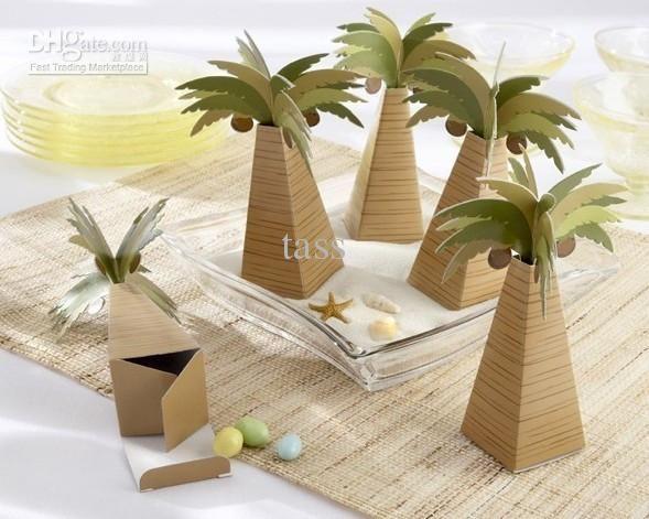 palmier de noix de coco en forme de boîtes de douche de bébé de faveurs et de cadeaux de la fête d'Anniversaire faveur
