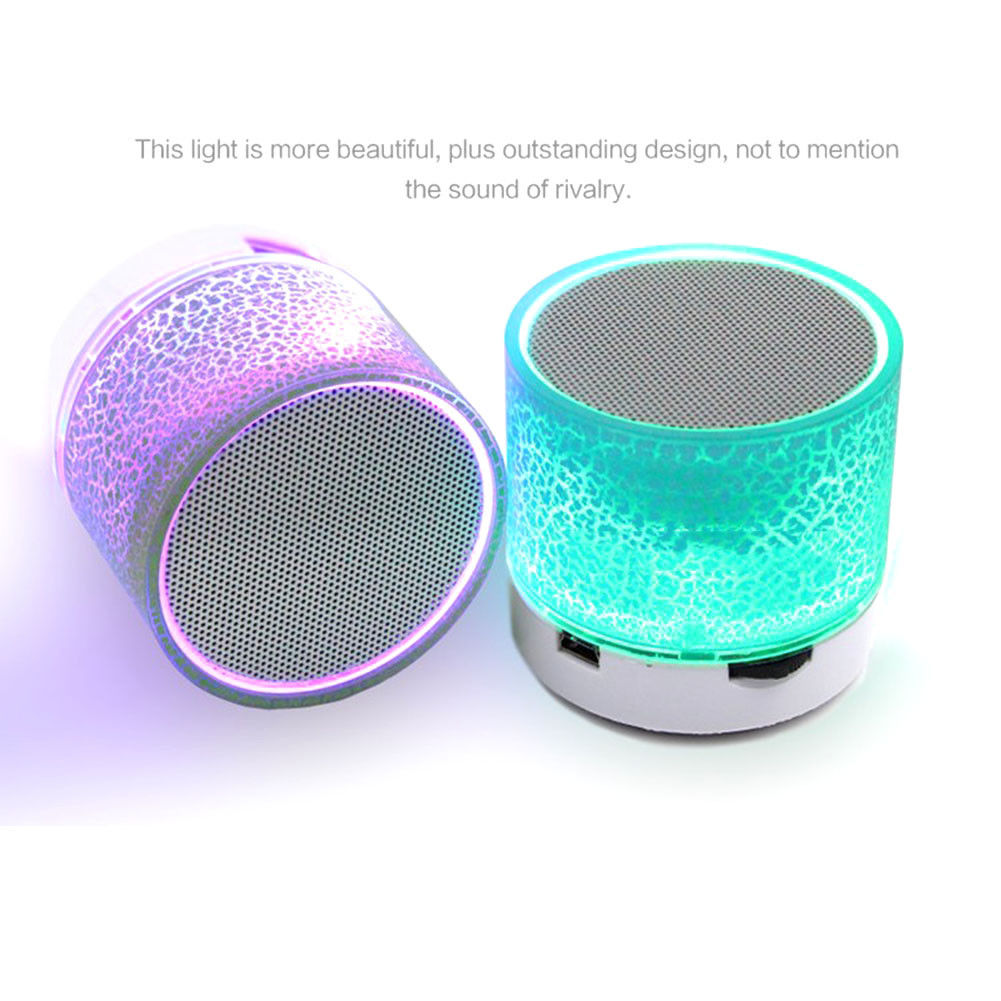 Colored LED Light Bluetooth Speaker FM Radio Stereo Wireless Subwoofer lot