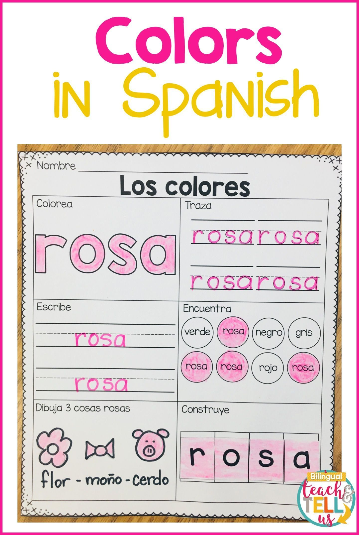 These Activities For Kids To Learn Colors In Spanish Will