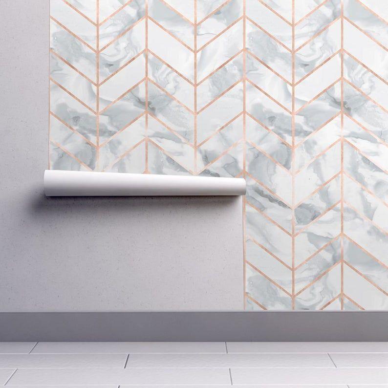 Leaves Navy Blue Peel And Stick Wallpaper Wallpaper Bathroom Walls Gold Wallpaper Bedroom Blue Wallpaper Living Room