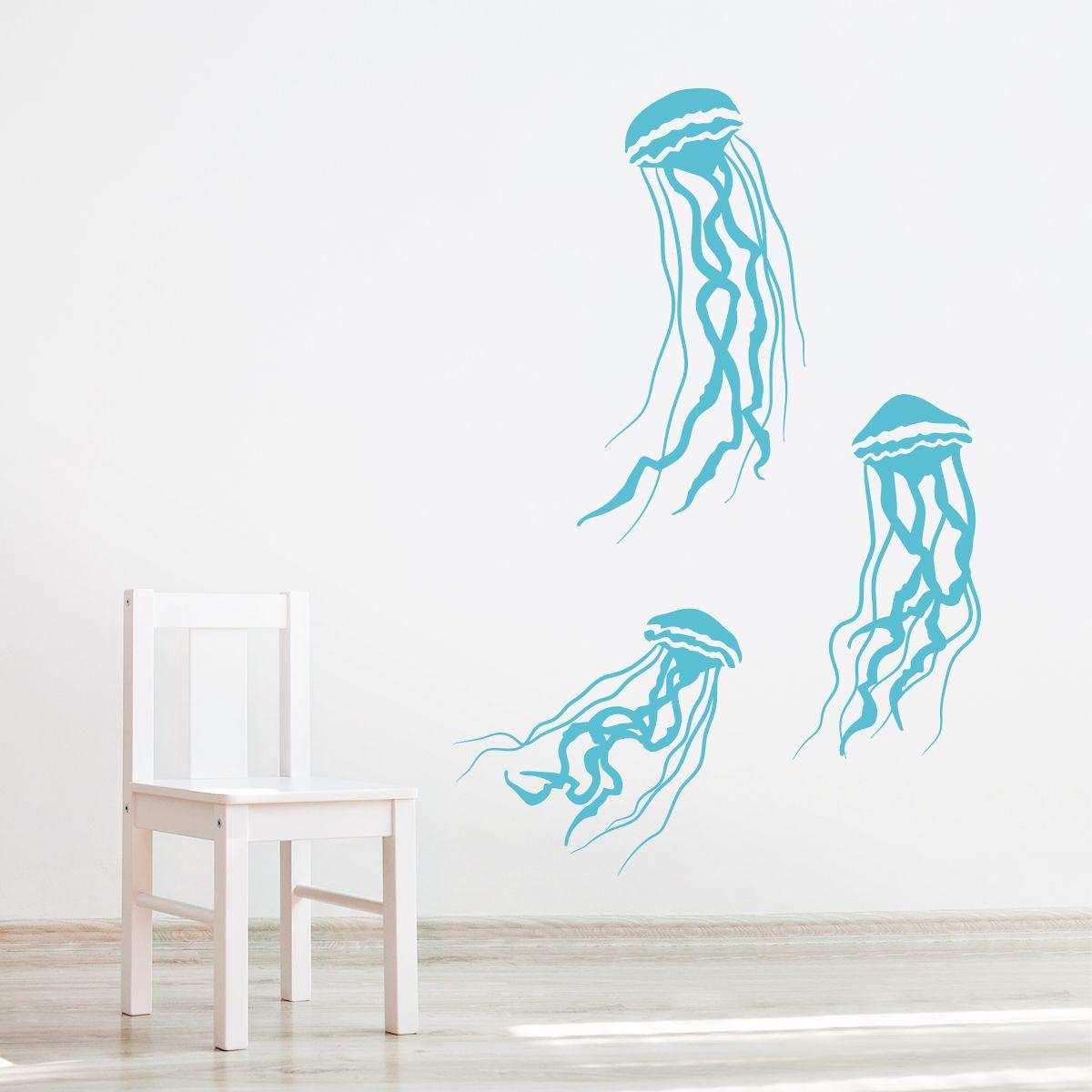 Jelly Fish Wall Decal Kidsroom Nurserydecor Marinelife