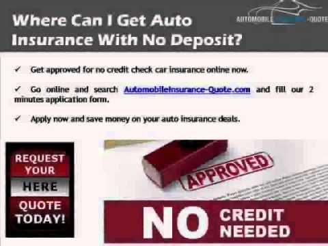 How To Qualify For No Credit Check Auto Insurance Online Business