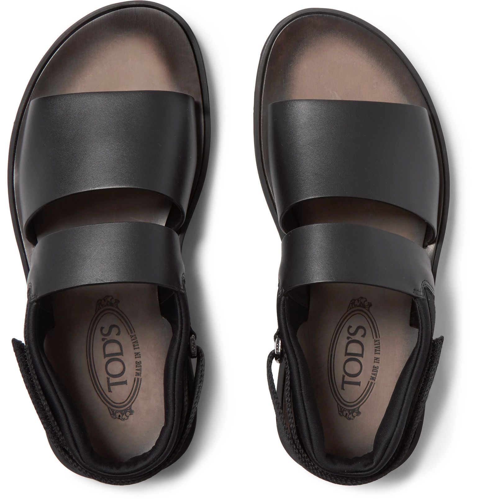 1e798f80e TOD'S Neoprene-Trimmed Leather Sandals | men's sandals in 2019 ...