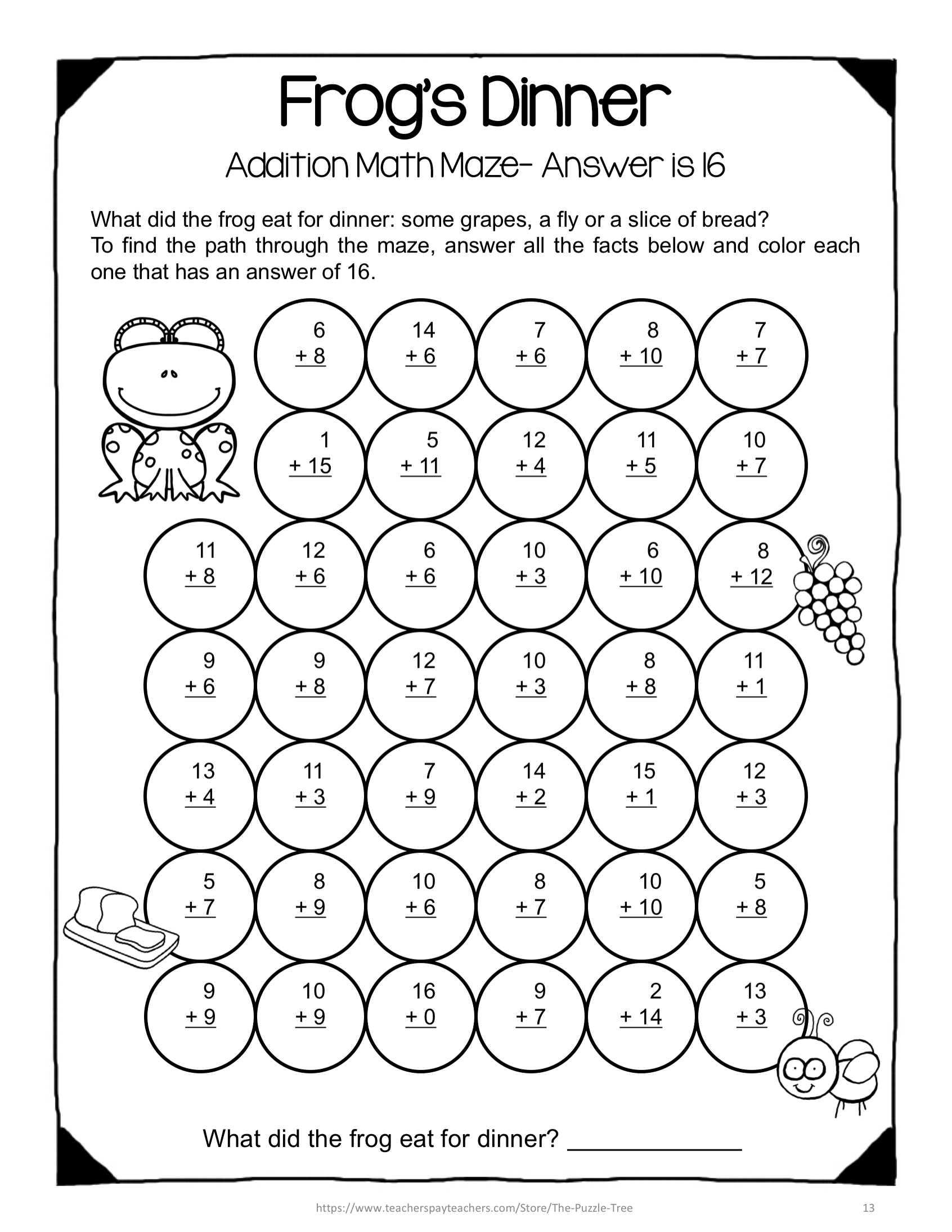 Have Fun With Addition In The Classroom With These Addition Math Mazes They Require No Prep Just Print T Math Maze Math Fact Fluency Free Addition Worksheets