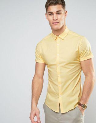 1ebf688313467 Camisa ajustada amarilla de ASOS