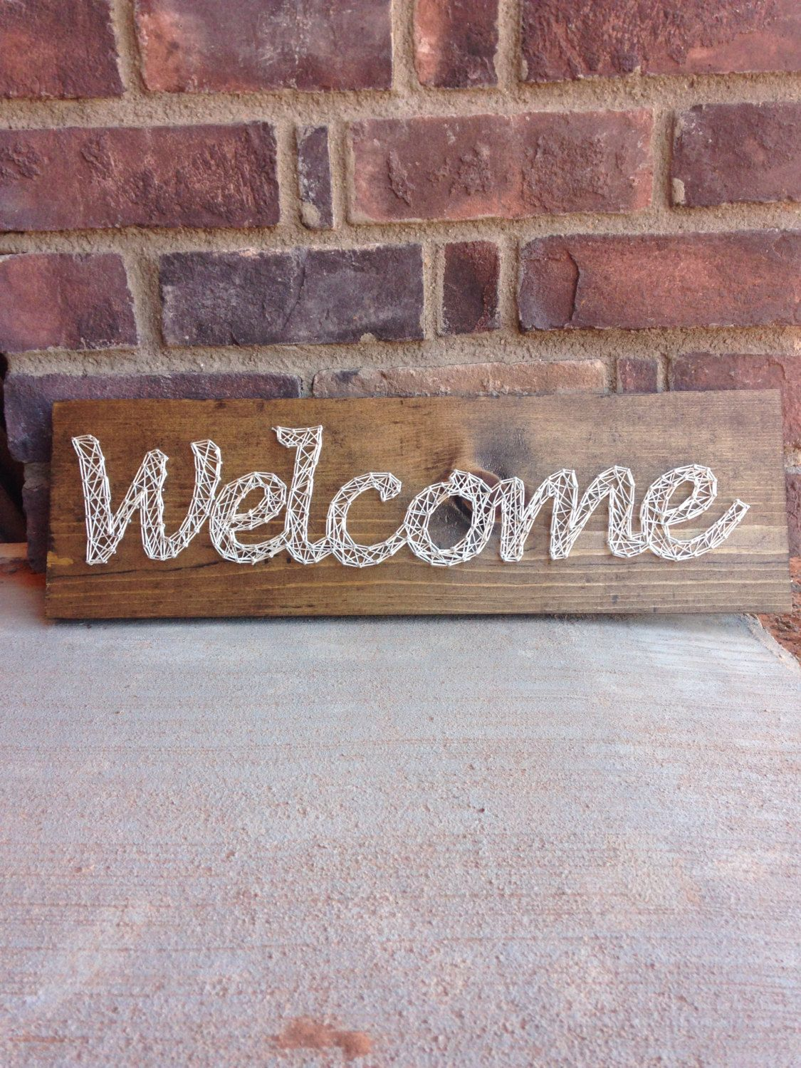 Mother\'s Day gifts wedding gift string art welcome sign A personal ...