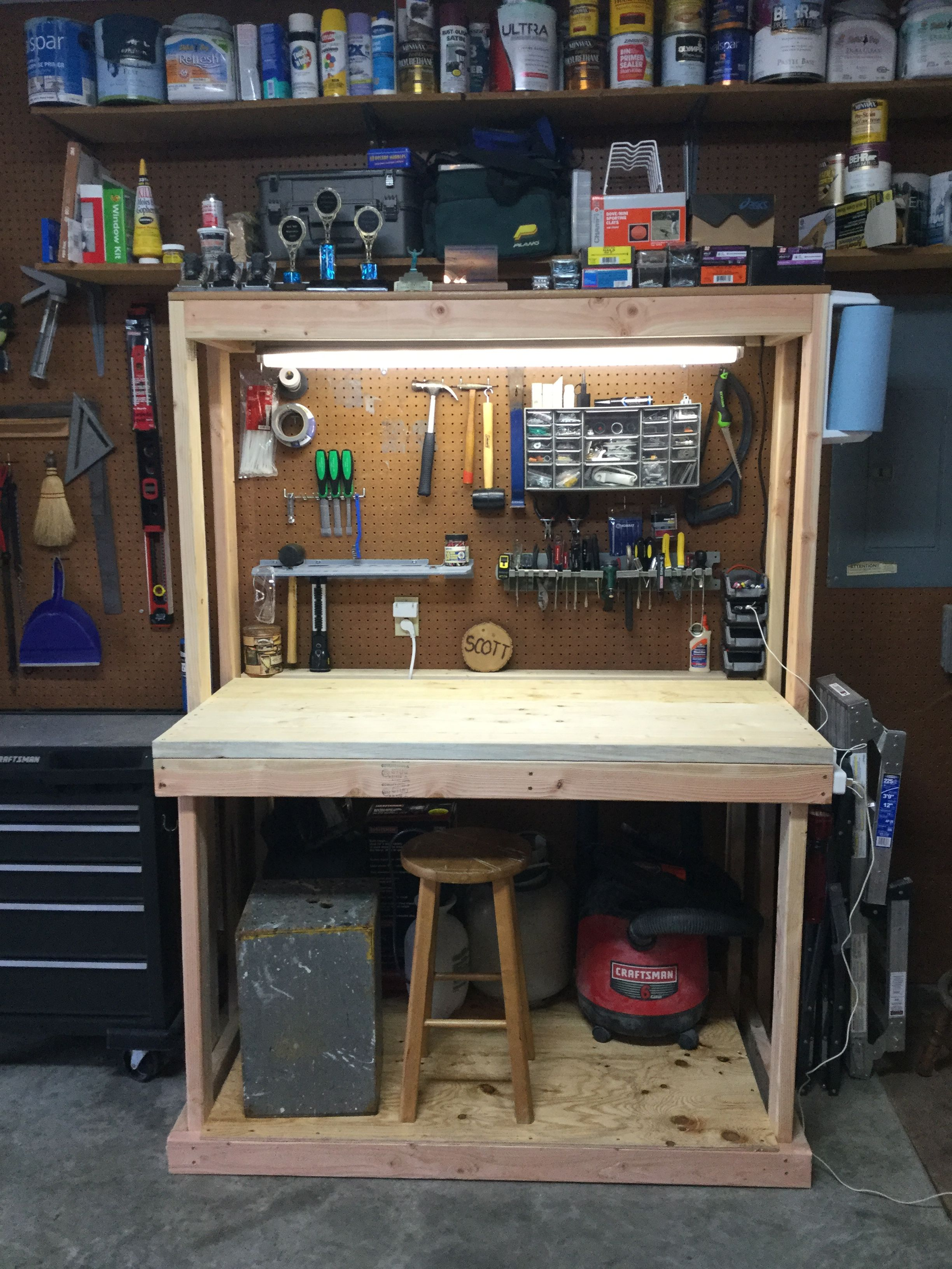 Small Workbench In 2019 Small Woodworking Shop Ideas