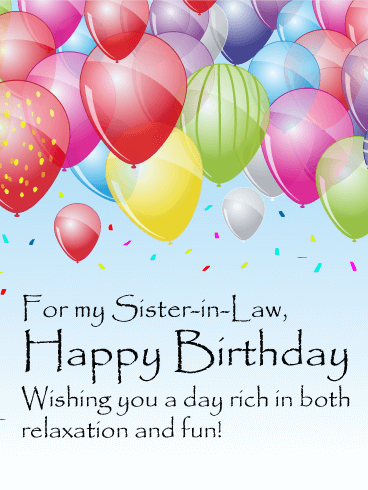 Fun Confetti Happy Birthday Card For Sister In Law Birthday Greeting Cards By Davia Sister Birthday Card Happy Birthday Sis Happy Birthday Posters