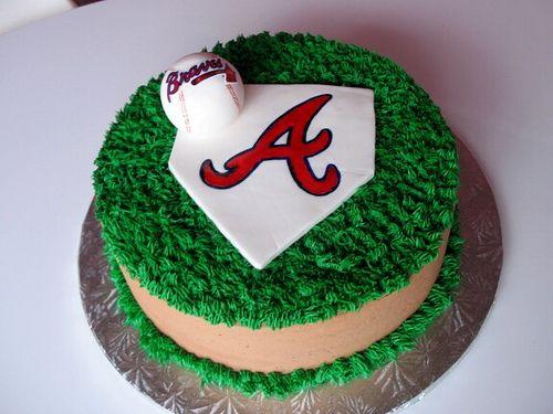 Braves Baseball Cake