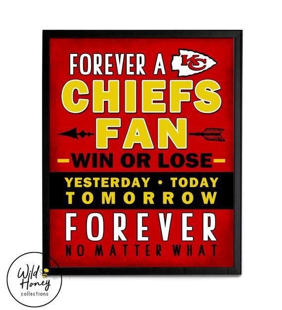 Forever A Chiefs Fan | KC Chiefs Kansas City Sports Football Family Sign | Home Decor | *DIGITAL DOWNLOAD*