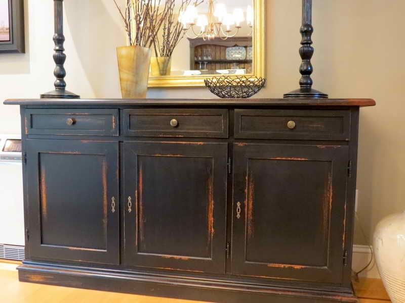 Distressed Furniture. White And Gold Distressed Damask Dresser