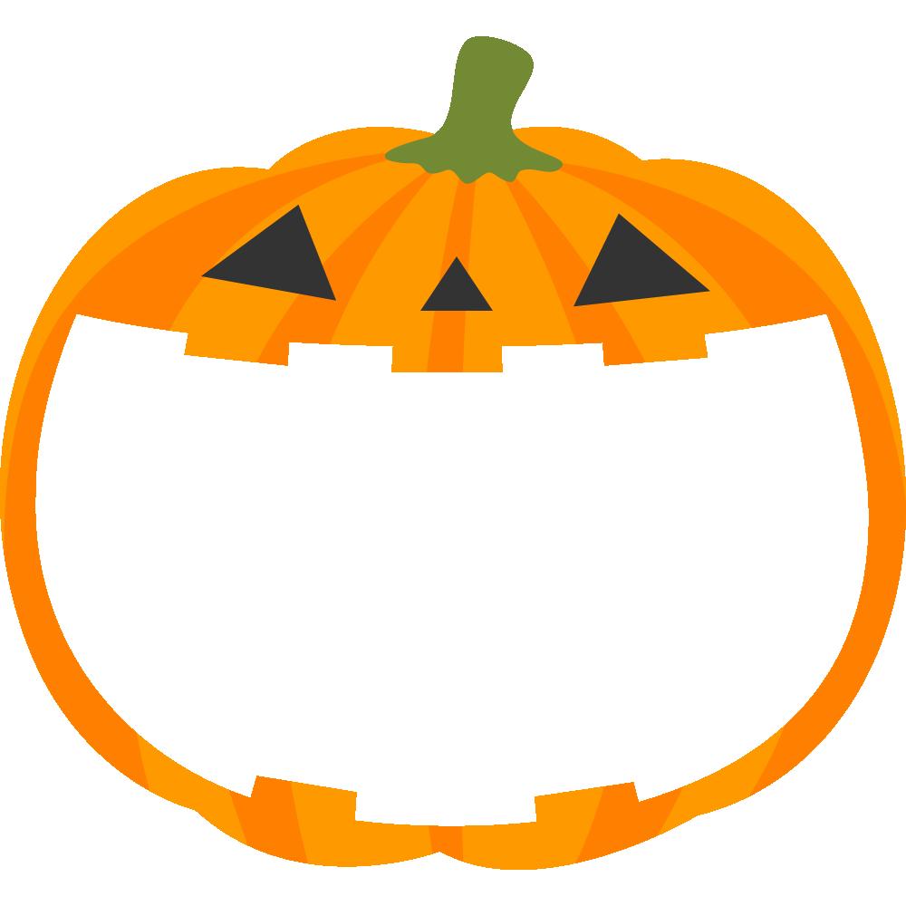 ハロウィンかぼちゃランタンのフレーム枠イラスト Jubchay Kawaii Memo