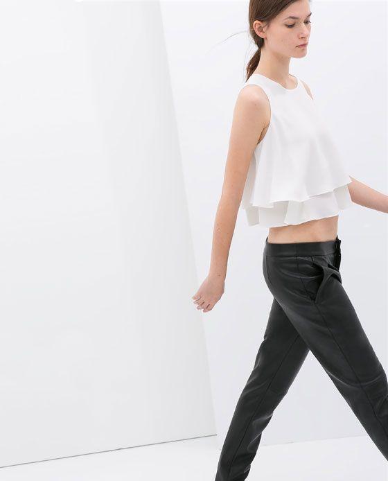 Imagen 5 de TOP DOBLE CAPA de Zara