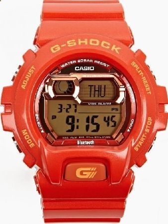 Casio Red GB-X6900B-4ER XL Bluetooth Watch The Casio G-SHOCK GB-X6900B-4ER XL Bluetooth Watch, seen here in red. - - With added functionality for the modern age, the GB-X6900B-4ER XL is built with Bluetooth smart technology and will alert you www.comparestorep...