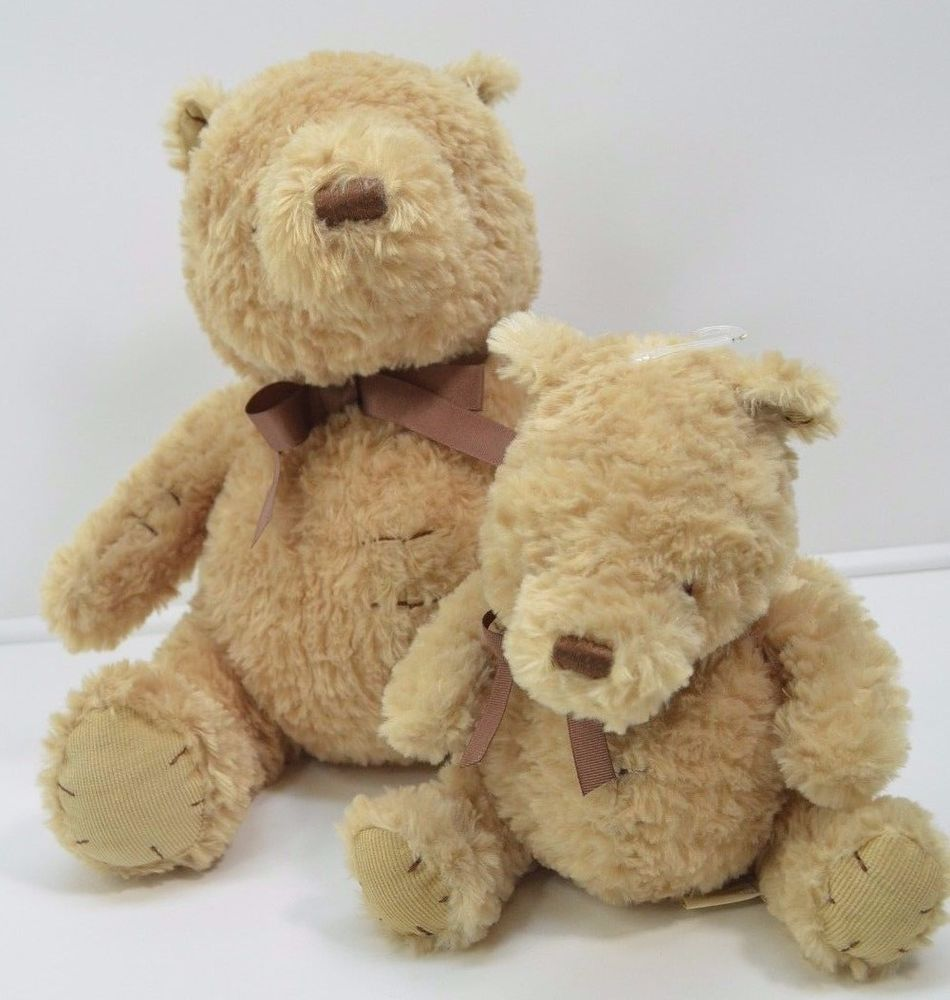 Classic Winnie The Pooh Brown Stitched Soft Stuffed Animal 9 14