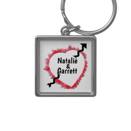 Piercing Arrow \ Rough Red Heart Outline Template Keychain Outlines - outline template