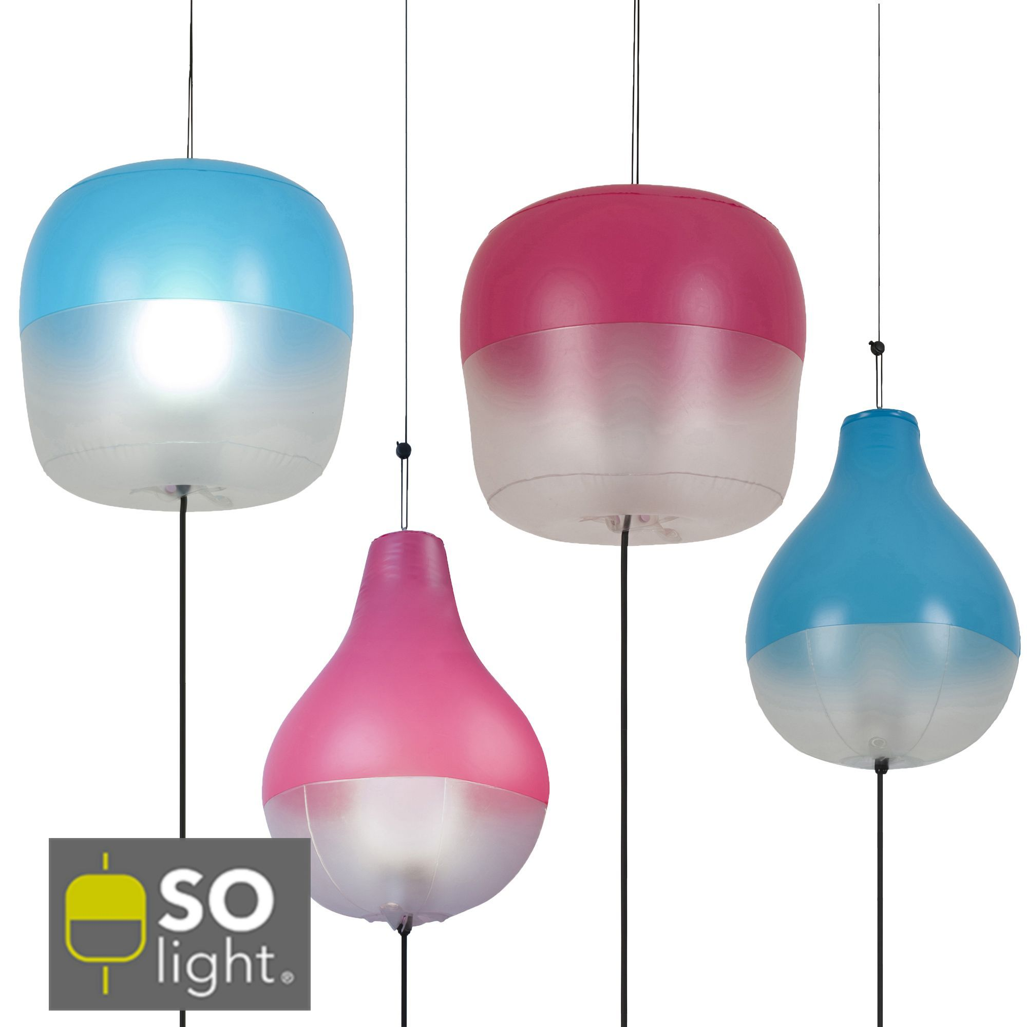 s lection de luminaires d 39 ext rieur gonflables fuchsia turquoise fuchsia turquoise so light. Black Bedroom Furniture Sets. Home Design Ideas
