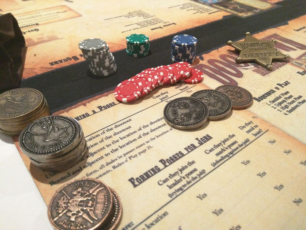 Doomtown: Reloaded | Chips and wild west metal coins | Games