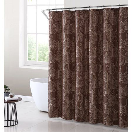 Home Shower Curtain Sets Fabric Shower Curtains Embroidered Leaves