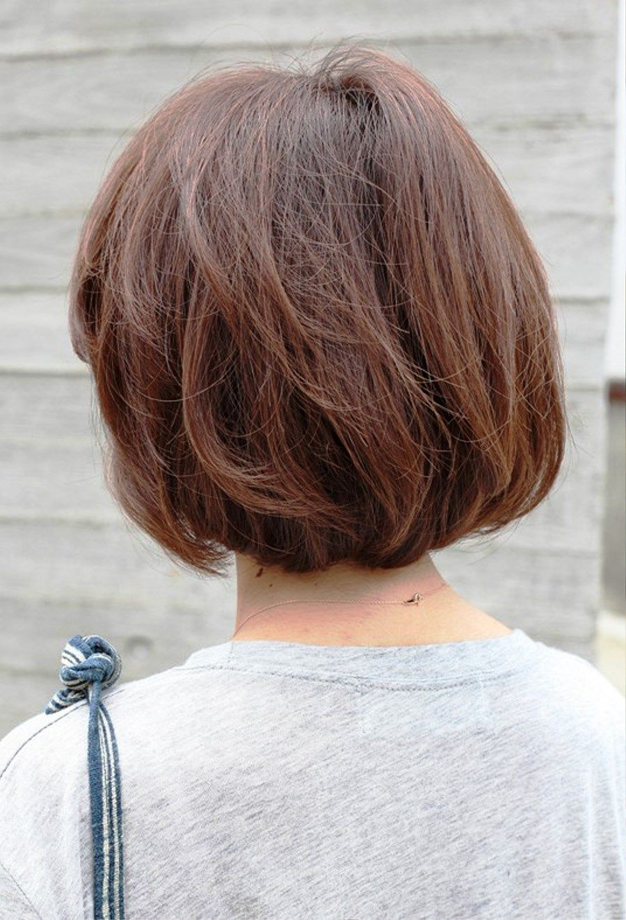 Image result for short haircuts for women over back view medium