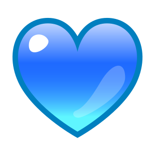 Blue Heart Emojidex Custom Emoji Service And Apps Blue Heart Emoji Heart Emoji Blue Heart