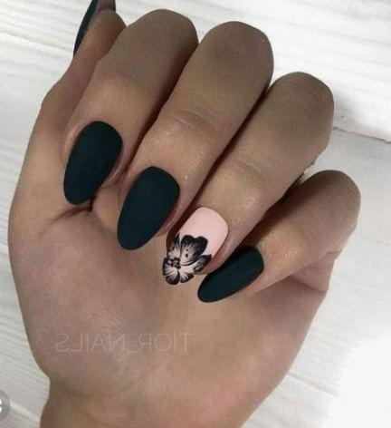 nails fall design matte black 16 trendy ideas nails