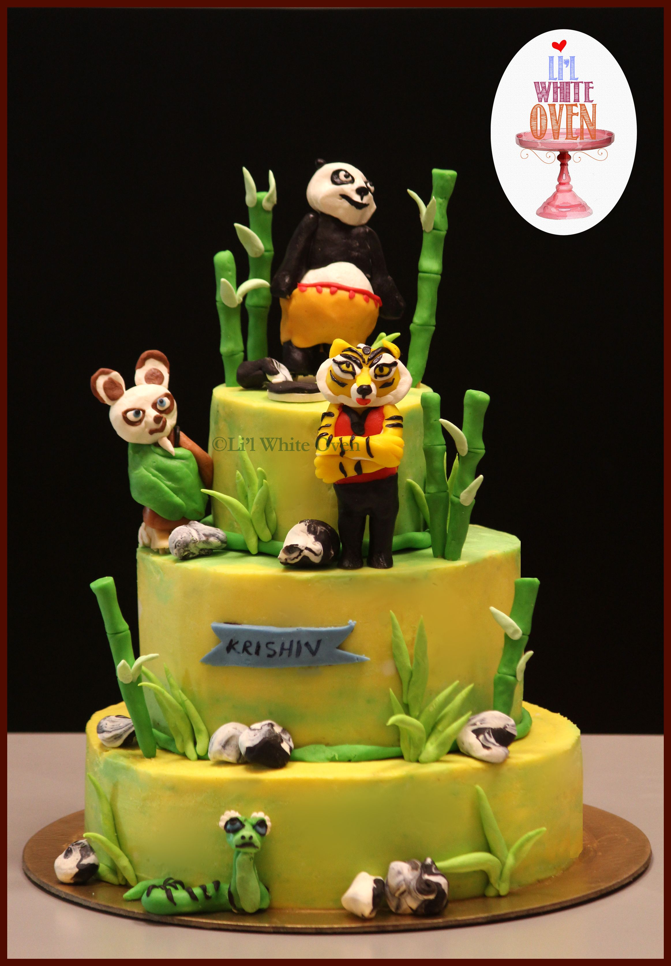 Kung Fu Panda Cake Made Entirely Out Of Chocolate Modeling