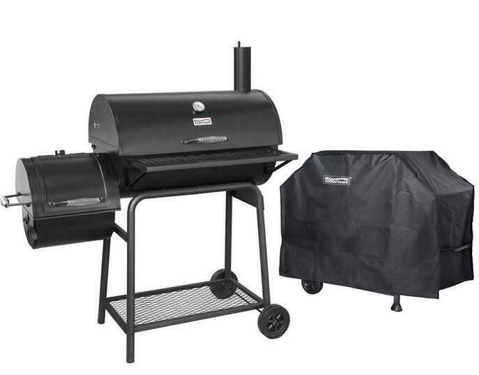 Royal Gourmet 30 Bbq Charcoal Grill Offset Smoker Cc1830f With Cover Work Space Big Sales Direct From Brand Roya Charcoal Bbq Charcoal Grill Offset Smoker